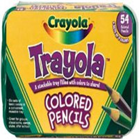 Crayola Trayola Bulk Colored Pencils Set, 54 Count, Storage Tray