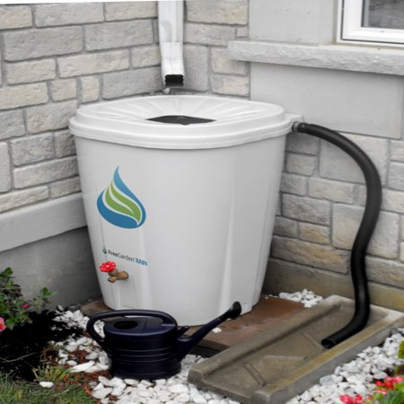 FreeGarden RAIN 55 Gallon Rain Barrel w/ Brass (Gallon Water Storage Barrel)
