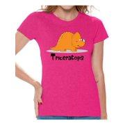 Awkward Styles Triceratops Dinosaur Shirt For Women Tshirt Spirit Animal T