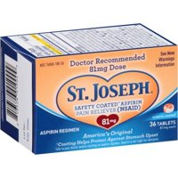 (4 Pack) St. Joseph Aspirin Pain Reliever Tablets, 81 mg, 36 Ct