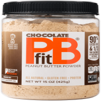 PBfit All-Natural Chocolate Peanut Butter Powder, 15 oz
