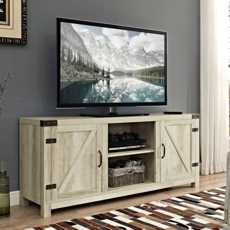 Manor Park Modern Farmhouse Barn Door TV Stand for TV