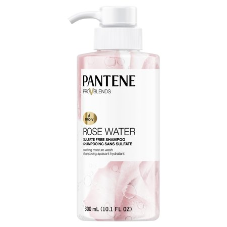 Pantene Pro-V Blends Rose Water Sulfate-Free Soothing Moisture Wash Shampoo, 10.1 fl