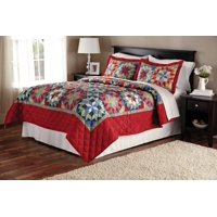 Mainstays Shooting Star Classic Patterned Quilt, Red