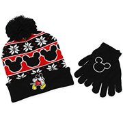 d3a828069f7 Mickey Mouse Youth Boys Beanie Hat and Gloves Set (Little Kid Big Kid)