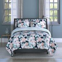 English Garden Floral Microfiber 3 Piece Full/Queen Comforter Set, Comforter 90x90, Sham 20x26 (2), Polyester
