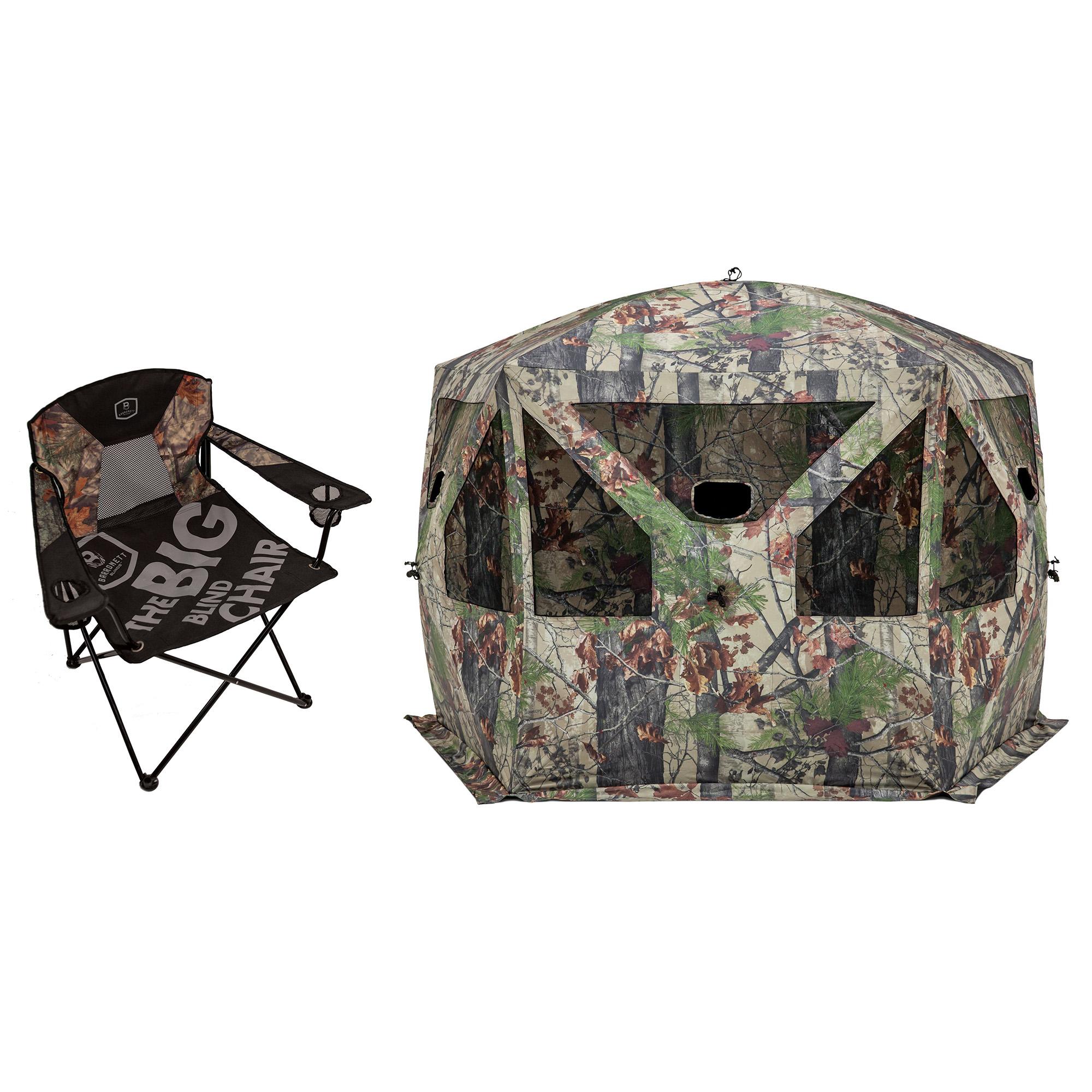 Barronett Blinds Big Blind Folding Chair + Bloodtrail Backwoods Hunting Blind  sc 1 st  Walmart & Hunting Chairs