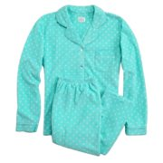 Soft Sensations Women Green Polka Dot Fleece Pajamas PJs Set Lounge Sleep  Set 7c8d5fa0f