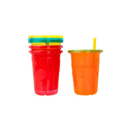 The First Years Take & Toss Spill-Proof Straw Cups, 18+ Months, 4 Pk - Bulk Cups With Straws