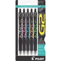 Pilot, PIL31373, G2 Fashion Collection Gel Roller Pens, 5 / Pack