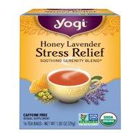 (3 Boxes) Yogi Tea, Honey Lavender Stress Relief Tea, Tea Bags, 16 Ct, 1.02 OZ