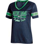 94091c970 Women s Russell Navy Notre Dame Fighting Irish Fashion Jersey V-Neck T-Shirt