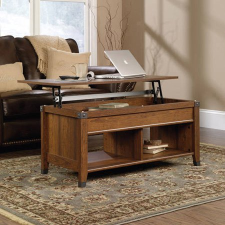 Sauder Carson Forge Lift Top Coffee Table Multiple Finishes