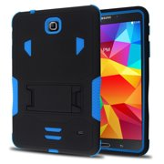 Samsung Galaxy Tab 4 7.0 / T230 Impact Silicone Case Dual Layer with Stand Blue