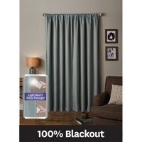 Better Homes & Gardens Ultimate Light Blocker 100 Percent Blackout Tiffany Window Curtain