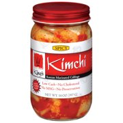King's Kimchi Korean Marinated Spicy Cabbage 14 oz. Jar