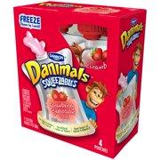 Danimals Lowfat Strawberry Explosion Yogurt, 3.5 Oz., 4 Count