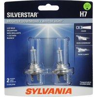 SYLVANIA H7 SilverStar Halogen Headlight Bulb, Pack of 2