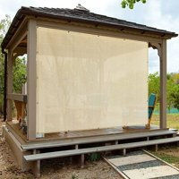 Alion Home Banha Beige Sun Shade Privacy Panel with Grommets on 4 Sides for Patio, Awning, Window, Pergola or Gazebo  10' x 10'