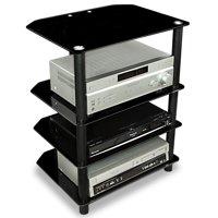 Mount-It! AV Component Glass Media TV Stand, 88 Lb Capacity (MI-867)