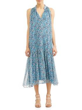 Women's Amanda Sleeveless Drop-Waist Dress