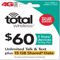 Total Wireless $60 Shared* Family Plan (Email Delivery) Extra Data Promotion Available**