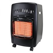 Dyna-Glo RA18LPDG Portable 18,000-BTU Gas Radiant Cabinet Heater w/Locking Casters & Piezo Ignition