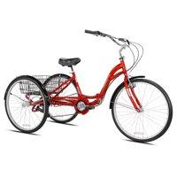 """Kent 26"""" Adult, Monterey Folding Trike, Red"""