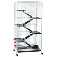 """Yaheetech 52"""" 6 Level Indoor Ferret and Small Animal Cage, White"""