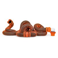 Camco RhinoEXTREME 20ft RV Sewer Hose Kit, Includes Swivel Fitting and Translucent Elbow with 4-In-1 Dump Station Fitting, Crush Resistant, Storage Caps Included (39867)