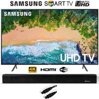 "Samsung UN50NU7100 50"" (UN50NU7100FXZA) NU7100 Smart 4K UHD TV (2018) with Vivitar 24-Inch Wall Mountable Wireless Bluetooth Soundbar"