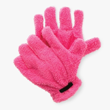 Rigger Orange Glove (Super Absorbent Quick-Dry Microfiber Hair Drying Gloves -Pink)