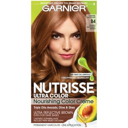 Garnier Nutrisse Ultra Color Nourishing Color Creme, B4 Caramel Chocolate