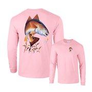 52160cdb6e8 Redfish Going for Lure Fishing Long Sleeve T-Shirt