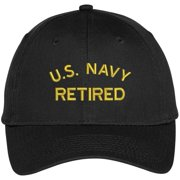 16ede3521d1e6 Trendy Apparel Shop US Navy Retired Embroidered Adjustable Snapback  Baseball Cap