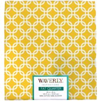 "Waverly Inspiration Fat Quarter LINKS SUN 100% Cotton, Chain Print Fabric, Quilting Fabric, Craft fabric, 18"" by 21"", 140 GSM"