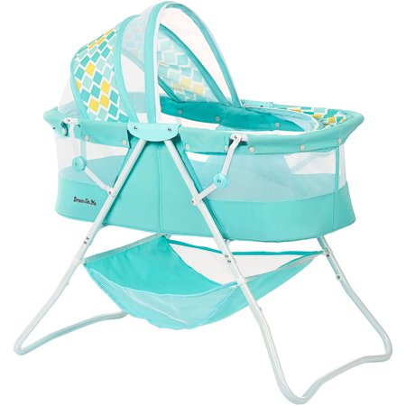 Dream On Me Karley Bassinet, Aqua (Baby Boy Cradle)