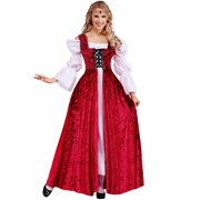 35afc12b10c Womens Medieval Lady Lace Up Gown Adult
