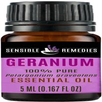 Sensible Remedies Geranium 100% Therapeutic Grade Essential Oil, 5 mL (0.167 fl oz)