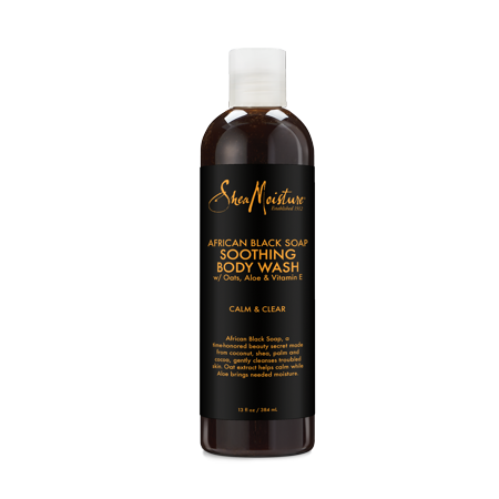 Foam Body Soap - Shea Moisture African Black Soap Body Wash, 13 oz