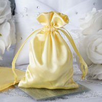 "Efavormart 60PCS Satin Gift Bag Drawstring Pouch for Wedding Party Favor Jewelry Candy Solid Satin Bags - 4""x 6"""