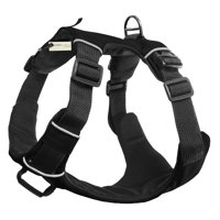 OxGord Paws & Pals Dog Harness, Medium, Black. No-Pull Durable Padded Nylon Mesh Vest - Easy Secure Control
