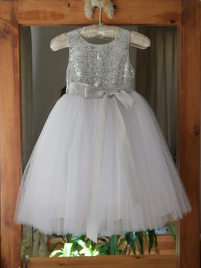 Ekidsbridal Wedding Pageant Glitter Sequin Tulle Flower Girl Dress Toddler Junior Bridesmaid Recital Easter Holiday Communion  Birthday Girls Clothing Baptism Speicla Occasions 123s 4