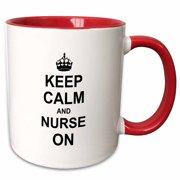 c9539e53b2e 3dRose Keep Calm and Nurse on - carry on nursing job - Nurses day gifts -