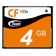 Team 4GB CF CompactFlash 133x Speed Flash Memory Card Model TCF4G13301