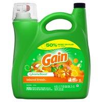 Gain + Aroma Boost Liquid Laundry Detergent, Island Fresh, 96 Loads 150 fl oz