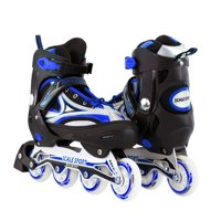 Size 8-11 Adjustable Inline Skates for Adult Men Ladies Teens Blue
