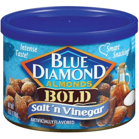 Blue Diamond Almonds Bold Salt 'N Vinegar Almonds, 6 Oz. (Taylor Of Old Bond Almond)