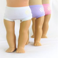 "Assorted Panties Set- 3 Pack| Fits 18"" American Girl Dolls, Madame Alexander, Our Generation, etc. 
