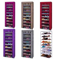 Zimtown 10 Tiers Shoe Rack Shoe Storage Organizer Cabinet Tower with Non-woven Fabric Cover
